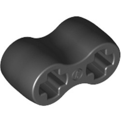 Black Technic, Axle Connector Double Flexible (Rubber) - used