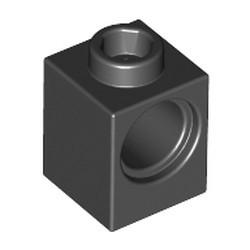 Black Technic, Brick 1 x 1 with Hole - new