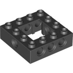 Black Technic, Brick 4 x 4 Open Center - used