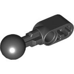 Black Technic, Liftarm, Modified Ball Joint Straight 1 x 2
