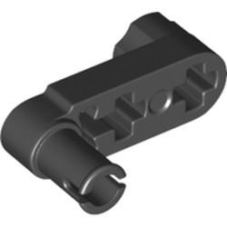 Black Technic, Liftarm, Modified Crank / Pin 1 x 3 - Axle Holes and Squared Pin Hole
