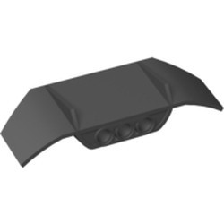 Black Technic, Panel Car Spoiler 3 x 8 with Three Holes - used