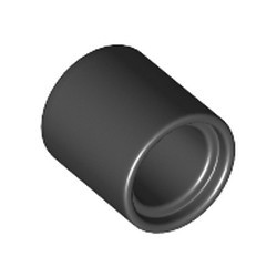 Black Technic, Pin Connector Round 1L (Spacer) - new