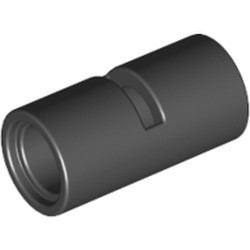 Black Technic, Pin Connector Round 2L with Slot (Pin Joiner Round) - used