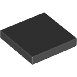 Black Tile 2 x 2 with Groove