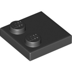 Black Tile, Modified 2 x 2 with Studs on Edge - new