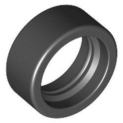 Black Tire 14mm D. x 6mm Solid Smooth