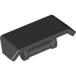 Black Vehicle, Spoiler 2 x 4 with Bar Handle - new