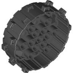 Black Wheel Hard Plastic with Small Cleats