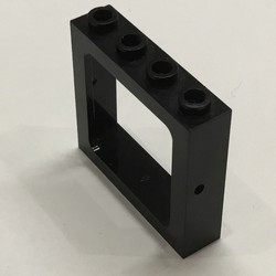 Black Window 1 x 4 x 3 Train - Hollow Studs - used