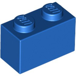 Blue Brick 1 x 2 - new