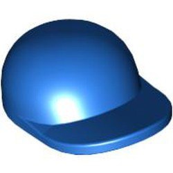 Blue Minifigure, Headgear Cap - Short Curved Bill