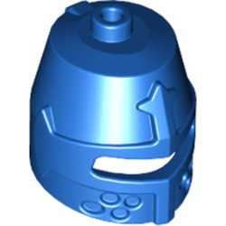Blue Minifigure, Headgear Helmet Castle Closed with Eye Slit - used