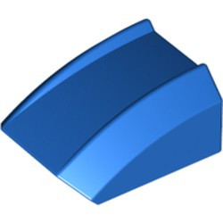 Blue Slope, Curved 2 x 2 Lip - used