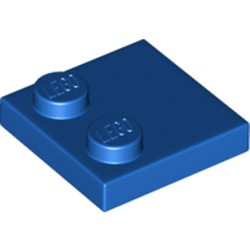 Blue Tile, Modified 2 x 2 with Studs on Edge