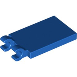 Blue Tile, Modified 2 x 3 with 2 Open O Clips - new