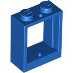 Blue Window 1 x 2 x 2 Flat Front