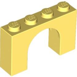 Bright Light Yellow Brick, Arch 1 x 4 x 2 - new