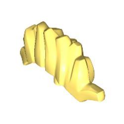 Bright Light Yellow Minifigure, Plume Mohawk - new