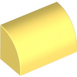 Bright Light Yellow Slope, Curved 1 x 2 x 1