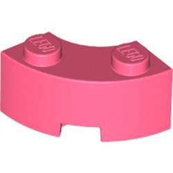 Coral Brick, Round Corner 2 x 2 Macaroni with Stud Notch and Reinforced Underside