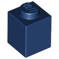 Dark Blue Brick 1 x 1 - used