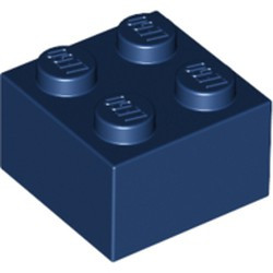 Dark Blue Brick 2 x 2 - new