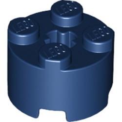 Dark Blue Brick, Round 2 x 2 with Axle Hole