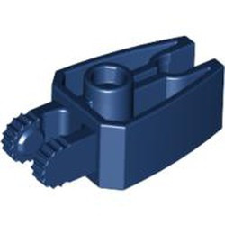 Dark Blue Hinge 1 x 3 Locking with 2 Fingers and Claw End