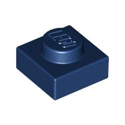 Dark Blue Plate 1 x 1 - used