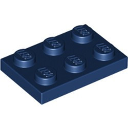 Dark Blue Plate 2 x 3 - used