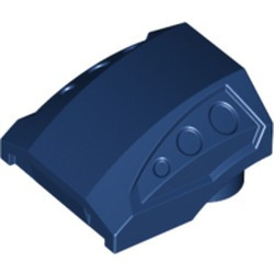 Dark Blue Slope, Curved 2 x 2 with 3 Side Ports Recessed - used