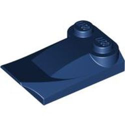 Dark Blue Slope, Curved 3 x 2 x 2/3 with Two Studs, Wing End