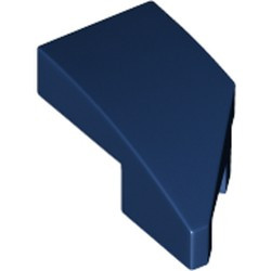 Dark Blue Wedge 2 x 1 with Stud Notch Left - new