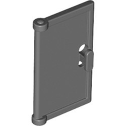 Dark Bluish Gray Door 1 x 2 x 3 with Vertical Handle, Mold for Tabless Frames - used