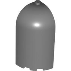 Dark Bluish Gray Panel 3 x 3 x 6 Corner Convex with Curved Top