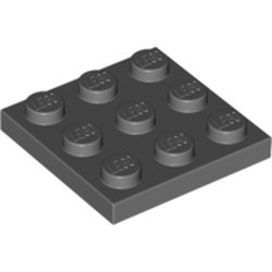 Dark Bluish Gray Plate 3 x 3