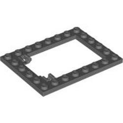 Dark Bluish Gray Plate, Modified 6 x 8 Trap Door Frame Horizontal (Long Pin Holders)
