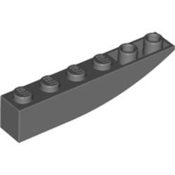 Dark Bluish Gray Slope, Curved 6 x 1 Inverted - used