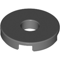 Dark Bluish Gray Tile, Round 2 x 2 with Hole