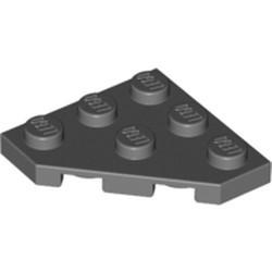 Dark Bluish Gray Wedge, Plate 3 x 3 Cut Corner