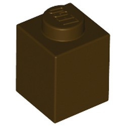 Dark Brown Brick 1 x 1 - new