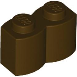 Dark Brown Brick, Modified 1 x 2 Log - used