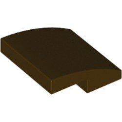 Dark Brown Slope, Curved 2 x 2 - new