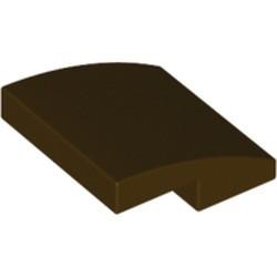 Dark Brown Slope, Curved 2 x 2