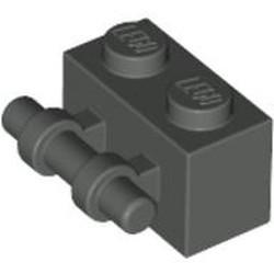 Dark Gray Brick, Modified 1 x 2 with Bar Handle - used