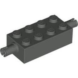 Dark Gray Brick, Modified 2 x 4 with Pins
