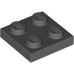 Dark Gray Plate 2 x 2 - used
