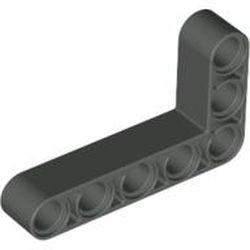 Dark Gray Technic, Liftarm, Modified Bent Thick L-Shape 3 x 5
