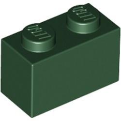 Dark Green Brick 1 x 2